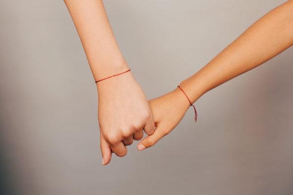ECA red wristlet kalava mauli